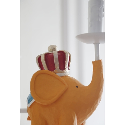 Elephant/Horse/King Wall Lamp Kindergarten Metal Decorative 1 Bulb Wall Sconce in White Finish