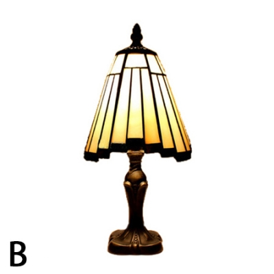 Classic Tiffany Table Lamp Fixture with Antique Bronze Base 2 Designs for Choice
