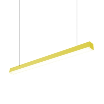 Contemporary Minimalist Acrylic Lampshade Linear Suspension Pendant Light L120cmxW6.5cm 36W Led Direct/Indirect Lighting with Cool White Light 6000K Suitable for Office Conference Room Corridor Dining Room