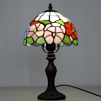 Tiffany-Style Floral Dome Shade Table Lamp, 15