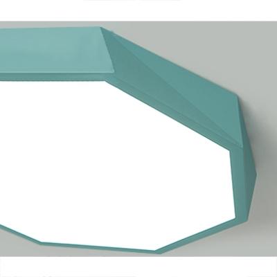 Macaroon Style Modern Lighting LED Geometric Acrylic Ceiling Lights in Green/Yellow 15.75