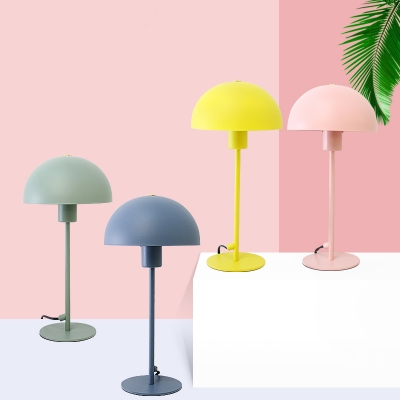Dome Standing Desk Light Contemporary Colorful Metal 1 Light Table Light for Study Room