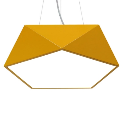 Contemporary Multicolors Metal Geometric Shade Led Pendant Lights 17.8