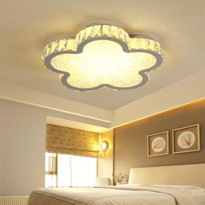 Crystal Style Flower Shape LED Ceiling Light Fixture for Bedroom Living Room 16.54