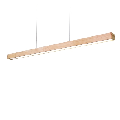 Wood Grain Slim Led Linear Pendant 48