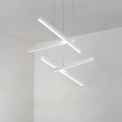 Minimalist Modern Designer Lighting 4 Light Led Linear Fixture In