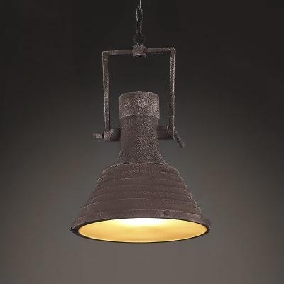 Industrial Style Single Light Antique Copper Indoor Pendant