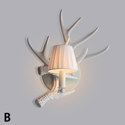 Plastic Antler Wall Mount Light Rustic