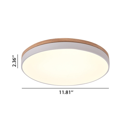 Wood Decoration LED Halo Ceiling Flush Light 11.8