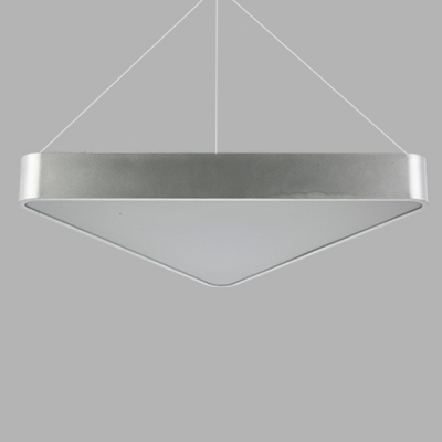 27W Aluminum Led Pendant Light Modern Triangle LED Chandelier with Adjustable Cord 17.72