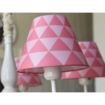 Rocking Horse Suspended Lamp Children Bedroom 3/5 Lights Lighting Fixture with Blue/Pink Fabric Shade