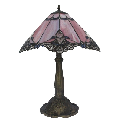 Tiffany Stained Glass Flower Pattern Table Lamp for Study Room Bedroom 2 Designs Available