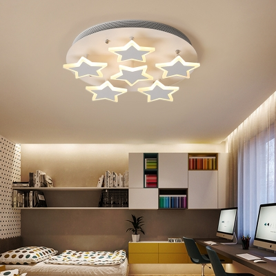 Nordic Style Star Accent LED Flushmount Ceiling Light for Living Room 16