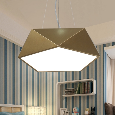 Contemporary Pendant Lighting Gold Geometric Led Chandelier