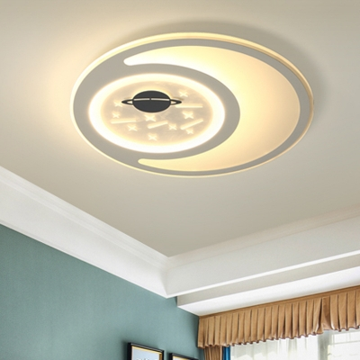 Contemporary Style Space Design Flush Mount Ceiling Fixture for Kids