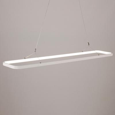 Led Direct Indirect Lighting Hallow Rectangle Pendant