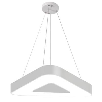 Low Profile Led Triangle Suspended Light Modern Black/White Light Fixture 23.62