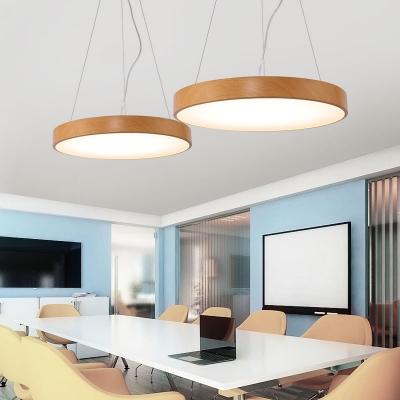 Contemporary Led Chandelier Wood Globe Lighting 20W-36W, 3200K/4200K/6500K, Warm White Light 15.75