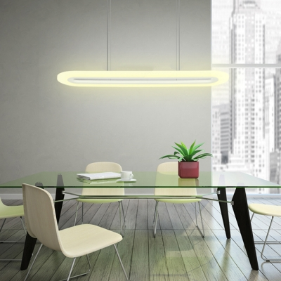 Modern Led Hanging Ceiling Lights Hollow Ellipse Shaped Led Pendants 27W/31W 31.50