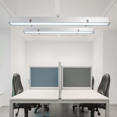 innovative design d3d7a 20ec5 Commercial Office Workshop Lighting LED Linear Pendant Lights in White