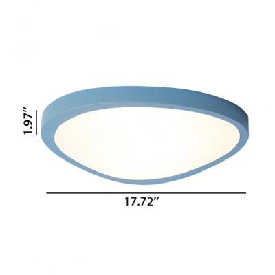 Post-modern Super Thin Flush Mount Lighting Macaroon Style Green/Blue Mango Shaped Led Ceiling Lights 12/18/26W Light-Adjustable 3 Sizes Available