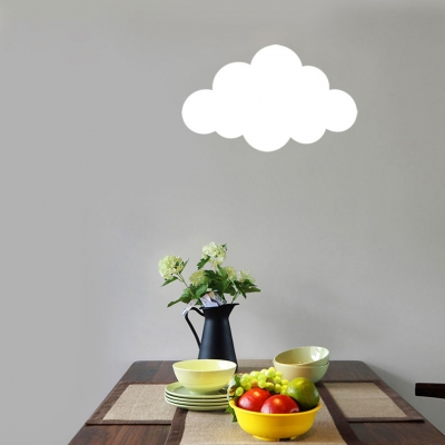 White Cloud Shade LED Light Wall Washer for Kids Bedroom Study Room