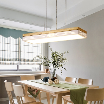 Contemporary Light Fixtures White Acrylic Led Linear Pendant 20W-60W