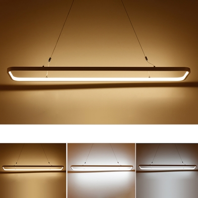 Led Direct Indirect Lighting Hallow Rectangle Pendant