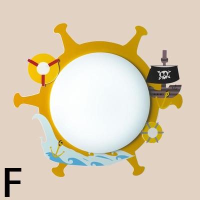 Adorable Acrylic Cartoon Sconce Light Nursing Room Kindergarten 1 Head LED Wall Lamp in Multi Color