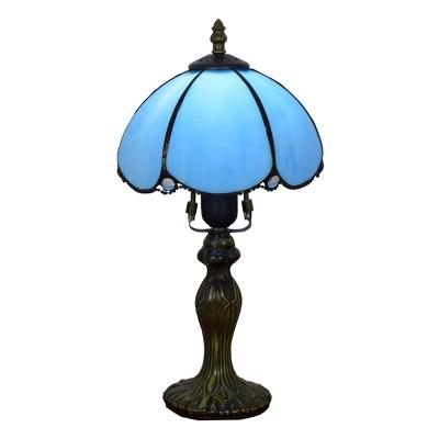 Lotus Flower Shape Yellow/Blue Glass Shade 14
