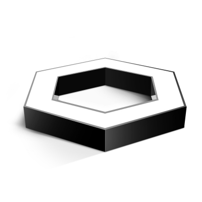 Modern Lighting Geometric Black Metal Acrylic Led Flushmount Light 30/48/58W Hexagon Shade Led Ceiling Lights Suitable for Office Foyer Hallway Bedroom