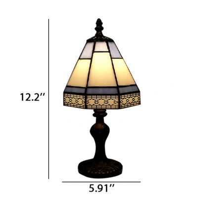 Ornate Classic Tiffany Table Lamp Fixture with Imperial Antique Bronze Base