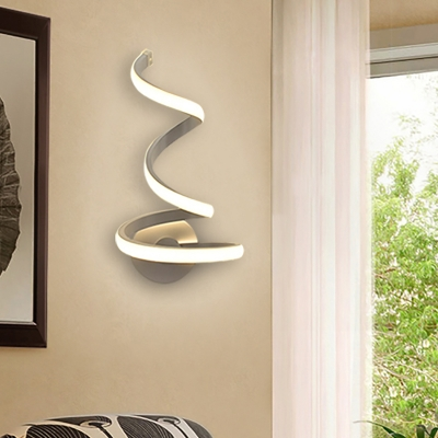 on sale 278d8 4a4f9 Decorative Modern Curved Led Wall Light 21W/24W White Aluminum Curl