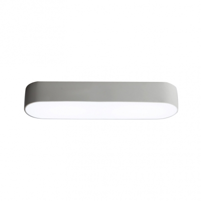 Modern Designers Lighting Oval Flush Mount Light 24/36W White Finish LED Down Lighting Mounted Lights for Office Conference Room Hallway Balcony