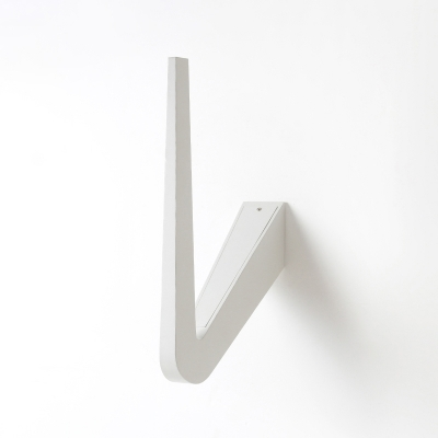 Simple Geometric Led Sconce Black/White Hook Shaped Led Wall Light Can Be Install on Wall/Ceiling for Staircase Porch Balcony Bedside