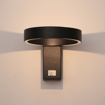 2 Designs Available Modern Head Rotative Halo LED Wall Light 5W Aluminum Ambient Led Small Wall Sconces Light Adjustable Bathroom Vanity Makeup Mirror Sconces