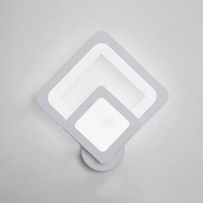 Modern and Fashion White Prism/Oval Led Wall Light 17W/18W Aluminum Led Ambient Wall Sconces for Bedroom Bathroom Stairs 2 Designs for Option