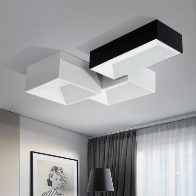 Modern Led Flush Mount Lighting 24w Square Recessed