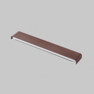 Modern LED Linear Fixture Brown Finish 12W/18W/24W Aluminum Led Linear Wall Light Bathroom Vanity Light 3 Sizes for Option