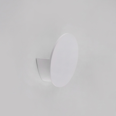 "Post Modern Hardwire White Led Inside-Out Wall Light Sconce 2.51"" Wide 4W 3000K/6000K Energy-Saving Round Led Sconces Light for Bedside Hallway Stairways Balcony"