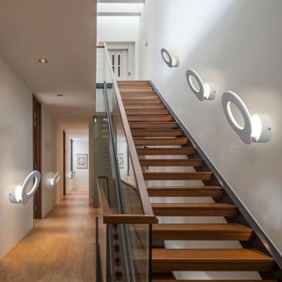 Ultra Slim Panel Led Wall Light 8W White Finish Square/Oval Led Wall Lighting 5.31