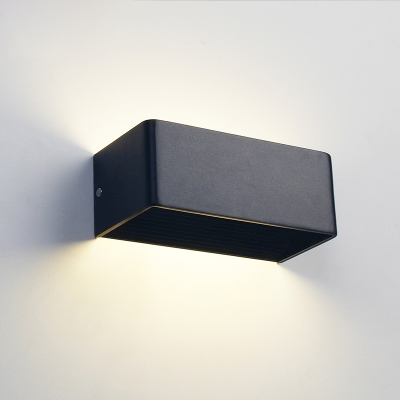 Contemporary Sconce Hardwire Hollow Rectangular Led Wall Light