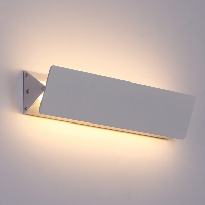 Adjustable Head Modern Wall Light White Finish Rectangular Led Indirect Wall Light 5W-15W Aluminum Decorative Swivel Sconces 3 Size Available