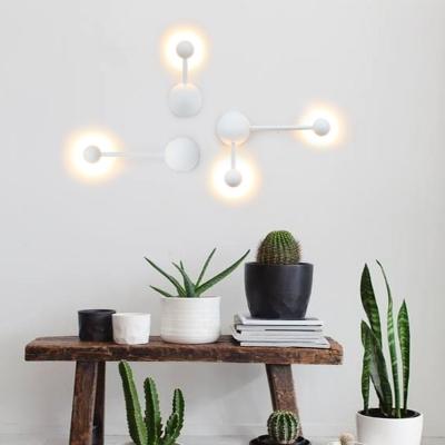 Designer Trendy Led Wall Light Textured White 3W/6W 1 Light/2 Light Acrylic Led Wall Sconces 7.87