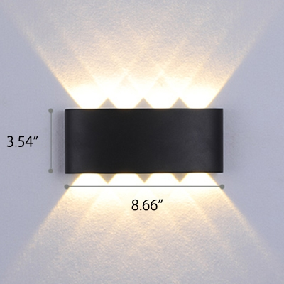 Modern Lighting Waterproof Outdoor Wall Lighting Max 8W 3000K-6000K Warm White Netural Colorful Light Aluminum Sconces in Black/White for Hallway Porch Front Door