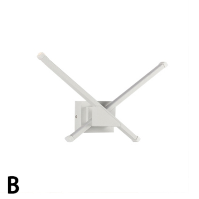 Modern White Acrylic Linear Led Wall Light 8W/12W/15W Arch/Cross/Vertical Wave Shaped Led Wall Sconce Art Deco for Living Room Bedroom Study Room Corridor 3 Designs Available