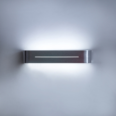 Modern Indoor Wall Light Brushed Silver