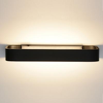 Eye-Protecting Low Wattage Modern Lighting Matte Black/White/Gary Rectangular Led Wall Sconce Aluminum 9W Led Indirect Warm Light Convertible To Pin-Up