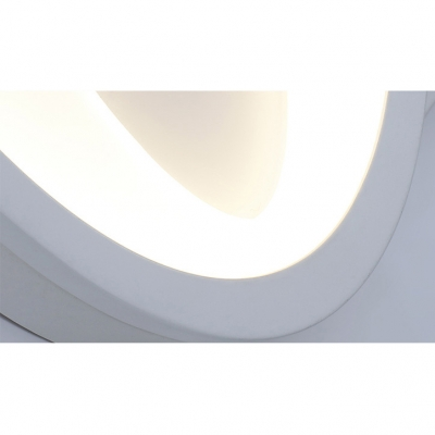 Nordic-Style Wall Mounted Lights for Bedroom Living Room Led Warm White Light Acrylic Prism/Loving Heart/Oval/Drop Shaped Ambient LED Wall Sconce in Matte White 5 Styles for Option