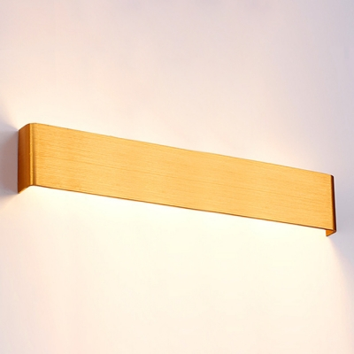 4 Sizes Available Post Modern Brushed Aluminum Wall Light Indirect Lighting Gold Led Linear Wall Sconce for Bedroom Stairways Living Room